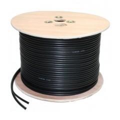 Câble KX6 + alimentation 2G0.5 noir touret de 300 mètres