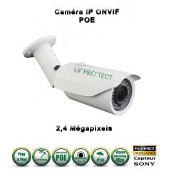 Caméra tube IP de vidéosurveillance 1080P SONY 2.4MP vision nocturne 40m / Blanc
