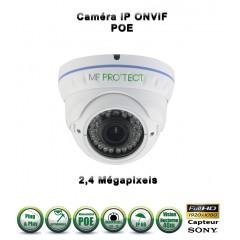 Caméra dôme IP de vidéosurveillance 1080P SONY 2.4MP vision nocturne 30m / Blanc