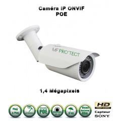 Caméra tube IP de vidéosurveillance 960P SONY 1.4MP vision nocturne 40m / Blanc