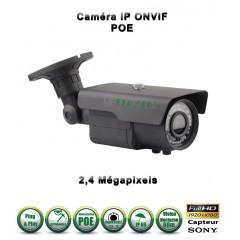 Caméra tube IP de vidéosurveillance 1080P SONY 2.4MP vision nocturne 60m / Blanc