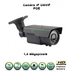 Caméra tube IP de vidéosurveillance 960P SONY 1.3MP vision nocturne 60m / Gris anthracite