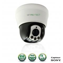 Caméra motorisée PTZ analogique Capteur SONY 650 lignes ZOOM x10 IR 50m Intérieur