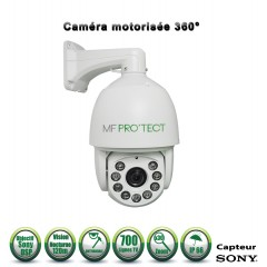 Caméra motorisée PTZ analogique Capteur SONY 700 lignes ZOOM x30 IR 120m Intérieur / Extérieur