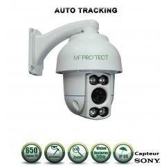 Caméra motorisée PTZ analogique Capteur SONY 650 lignes ZOOM x10 IR 50m AUTO TRACKING