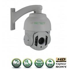 Caméra motorisée PTZ AHD Capteur 1/3 CMOS 720P ZOOM x10 IR 50m