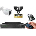 KIT IP 4 Tubes FULL HD 1080P SONY 2.4MP IR 20m