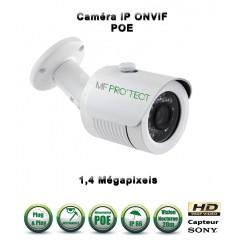 Caméra tube IP de vidéosurveillance 960P SONY 1.4MP vision nocturne 20m / Blanc