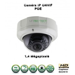 Caméra dôme IP de vidéosurveillance 960P SONY 1.4MP vision nocturne 25m / Blanc