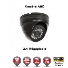 Camera dôme AHD / CVI / TVI de vidéosurveillance 1080P SONY 2.4MP vision nocturne 20m / Noir