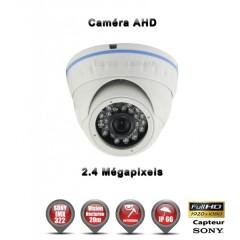 Camera dôme AHD / CVI / TVI de vidéosurveillance 1080P SONY 2.4MP vision nocturne 20m / Blanc