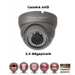 Camera dôme AHD / CVI / TVI de vidéosurveillance 1080P SONY 2.4MP vision nocturne 30m / Gris anthracite