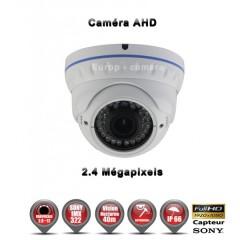 Camera dôme AHD / CVI / TVI de vidéosurveillance 1080P SONY 2.4MP vision nocturne 30m / Blanc