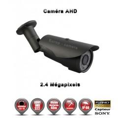 Camera tube AHD / CVI / TVI de vidéosurveillance 1080P SONY 2.4MP vision nocturne 40m / Noir
