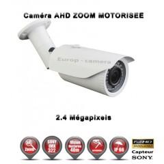 Camera tube AHD / CVI / TVI de vidéosurveillance 1080P SONY 2.4MP vision nocturne 40m AUTO ZOOM / Blanc