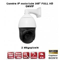 Caméra motorisée IP PTZ 2.0 MegaPixel Sony CMOS Image Sensor 1080P Zoom x20 IR 140m Intérieur / Extérieur