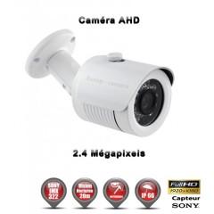 Camera tube AHD de vidéosurveillance 1080P SONY 2.4MP vision nocturne 20m / Blanc