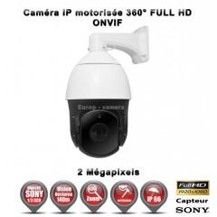 Caméra motorisée IP PTZ 2.0 MegaPixel Sony CMOS Image Sensor 1080P Zoom x36 IR 140m Intérieur / Extérieur