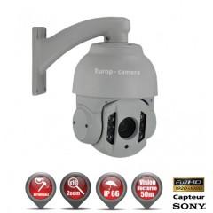 Caméra motorisée PTZ AHD Capteur 1/3 CMOS 1080P ZOOM x10 IR 50m