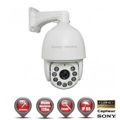 Caméra motorisée PTZ AHD Capteur 1/3 CMOS 1080P ZOOM x18 IR 120m