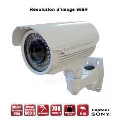 Camera tube de vidéosurveillance Capteur SONY 700 lignes vision nocturne 20m / Blanc