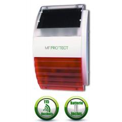 Sirène flash solaire sans fil autonome universelle exterieur MFprotect