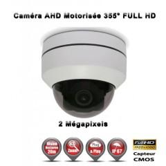 Caméra motorisée PTZ Mini Dôme 355° AHD / CVI / TVI / Analogique 1080P ZOOM X3 IR 20M