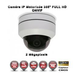 Caméra motorisée PTZ Mini Dôme 355° IP POE 1080P ZOOM X3 IR 20M