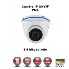 Caméra dôme IP de vidéosurveillance 1080P SONY 2.4MP vision nocturne 20m / Blanc
