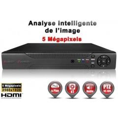 Enregistreur 5 en 1 XVR 4 canaux 5 MegaPixels h264+