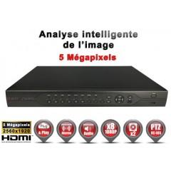 Enregistreur 5 en 1 XVR 4 canaux 8 MegaPixels h264+