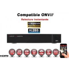 Enregistreur NVR 36 canaux 12 MegaPixels h265+