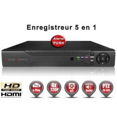 Enregistreur 5 en 1 XVR 4 canaux 720P h264