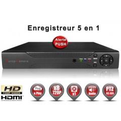 Enregistreur 5 en 1 XVR 8 canaux 720P h264