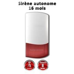 Sirène exterieur ou interieur flash sans fil 868 mhz avec batterie autonome 16 mois MFprotect