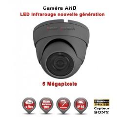 Camera dôme AHD / CVI / TVI de vidéosurveillance 5 MegaPixels SONY vision nocturne 20m / Noir