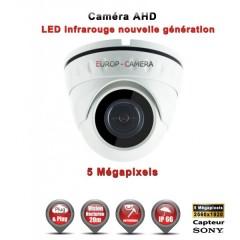 Camera dôme AHD / CVI / TVI de vidéosurveillance 5 MegaPixels SONY vision nocturne 20m / Blanc