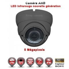 Camera dôme AHD / CVI / TVI de vidéosurveillance 5 MegaPixels SONY vision nocturne 30m / Gris anthracite