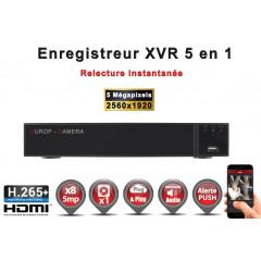 Enregistreur 5 en 1 XVR 8 canaux 5MP h265+