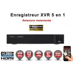 Enregistreur 5 en 1 XVR 16 canaux 5MP h265+