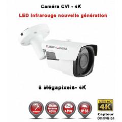 Camera tube AHD / CVI / TVI de vidéosurveillance 8 MegaPixels UHD 4K vision nocturne 40m / Blanc