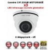 Camera dôme AHD / CVI / TVI de vidéosurveillance 8 MegaPixels UHD 4K Auto-Zoom X3vision nocturne 30m / Blanc