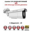 Camera tube AHD / CVI / TVI de vidéosurveillance 8 MegaPixels UHD 4K Auto-Zoom X3 vision nocturne 60m / Blanc