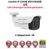 Caméra tube IP de vidéosurveillance Capteur OV UHD 4K ZOOM Motorisée X4 vision nocturne 60m / Blanc
