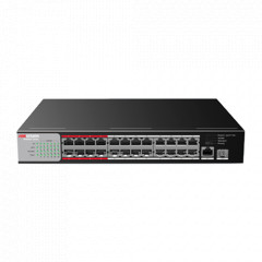 Switch ethernet POE 26 ports (24 + 2)
