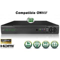 Enregistreur NVR 8 canaux 1080P h264