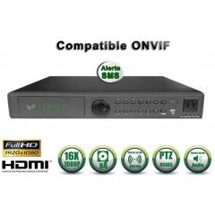 Enregistreur NVR 16 canaux 1080P h264